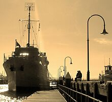 Naval Boat Docked in Williamstown by jweeks