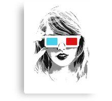 T-Swift 3D Canvas Print