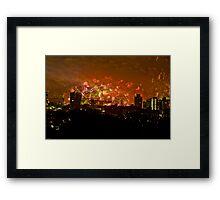 Sydney New Years Eve Fireworks 2009 Framed Print