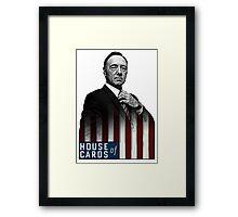 House of Cards Frank Underwood Framed Print