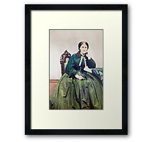 Lady in Green by Shew Framed Print