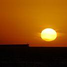 Sunrise Horizon - Caves Beach by Bev Woodman