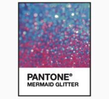 Pantone Mermaid Glitter Designer Sticker by Vrai Chic