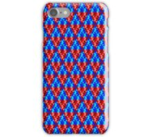 Red and Blue Abstract Triangles iPhone Case/Skin