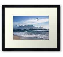 Kite Surfing in Cape Town, South Africa Framed Print
