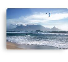 Kite Surfing in Cape Town, South Africa Metal Print