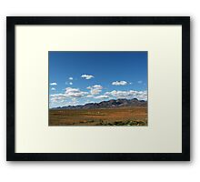 Rugged rural Framed Print