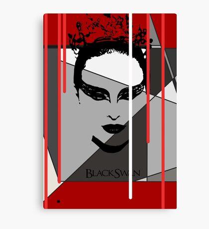Black Swan Poster Canvas Print