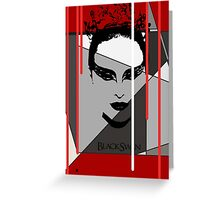 Black Swan Poster Greeting Card