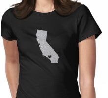 Los Angeles, CA Glitter State Womens Fitted T-Shirt