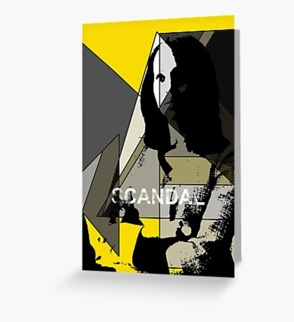 Scandal Poster Greeting Card