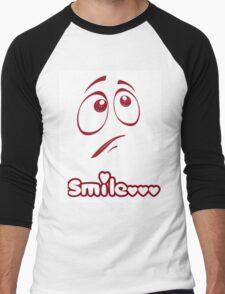 smile!!!!!! Men's Baseball ¾ T-Shirt