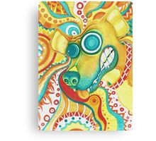 Chaotic Canine Canvas Print