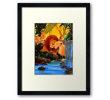 Can you feel the love tonight ? Framed Print