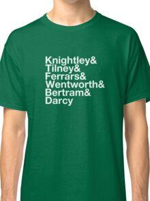 Men of Jane Austen Helvetica Classic T-Shirt