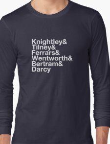 Men of Jane Austen Helvetica Long Sleeve T-Shirt
