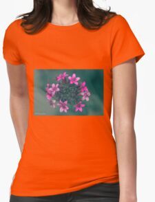 Pink Flowers Explosion Womens Fitted T-Shirt