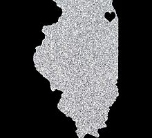 Chicago, IL Glitter State by CraftyCreepers
