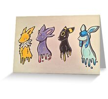 Pokemon Eevelutions Greeting Card