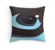 Sculptural spiral Throw Pillow