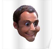 Sheldon Cooper Bazingle Face Poster