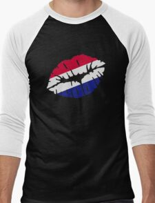 Netherlands flag kiss Men's Baseball ¾ T-Shirt