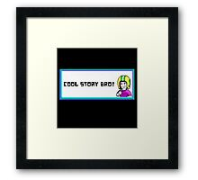 commander keen cool story bro Framed Print