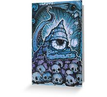 Cthonic Temple Smoke Greeting Card