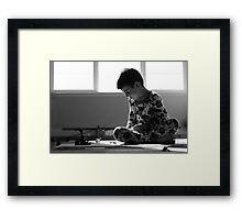 Morning's Play Framed Print