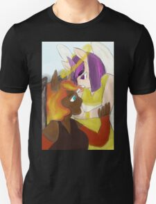 angel and devil, sun and stars Unisex T-Shirt
