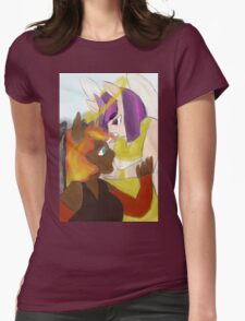 angel and devil, sun and stars Womens Fitted T-Shirt