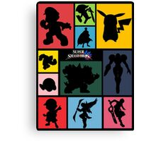Super Smash Bros. For Wii U And 3DS: Roster Canvas Print