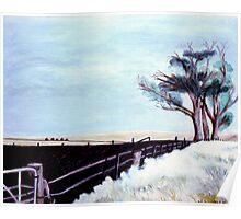 Field In Moe, Vic. Australia  Poster
