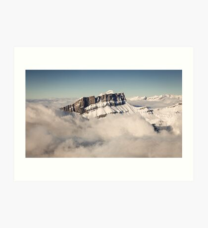 Above the Clouds, French Alps Art Print