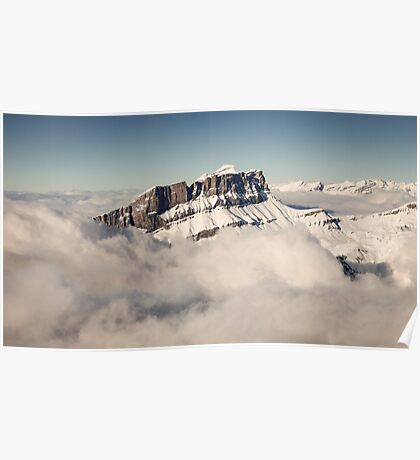 Above the Clouds, French Alps Poster