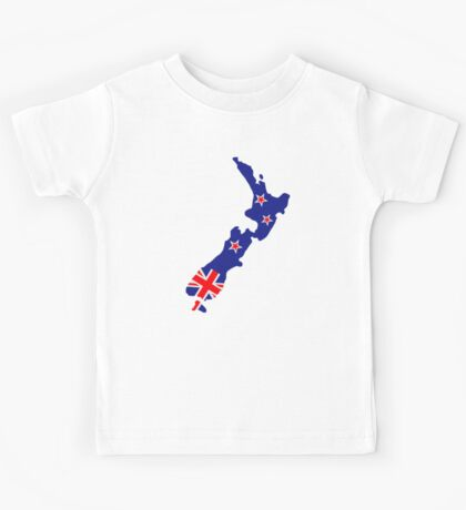 New Zealand map flag Kids Tee