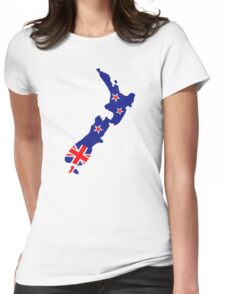 New Zealand map flag Womens Fitted T-Shirt