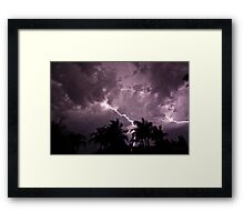 Strikes in the Night Framed Print