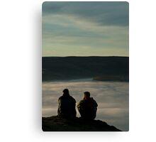 2 above the fog line Canvas Print
