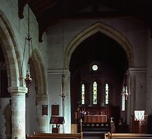 Nave of Saxon St Gregories Minster Kirkdale North Yorkshire 198406020091 by Fred Mitchell
