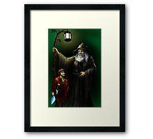 Gandalf and Bilbo Framed Print