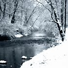 Winter Snow and Creek by KellyHeaton