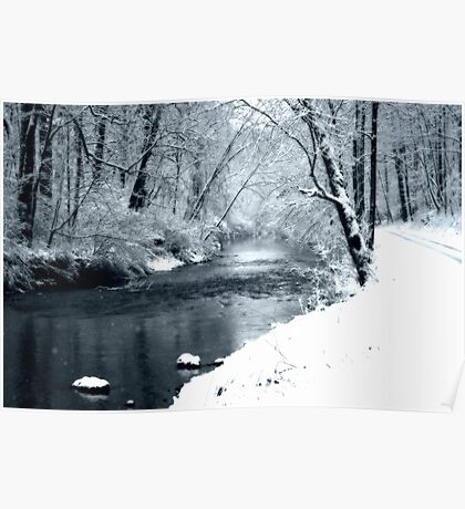 Winter Snow and Creek Poster