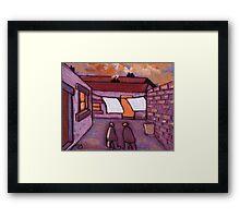 The backyard Framed Print