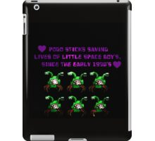 commander keen green two headed alien  iPad Case/Skin