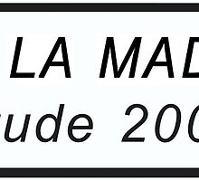 Col de la Madeleine Cycling Road Sign Print by movieshirtguy
