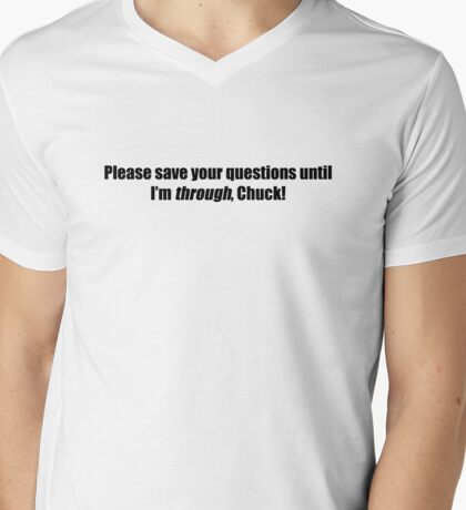 Pee-Wee Herman - Please Save Your Questions - Black Font Mens V-Neck T-Shirt