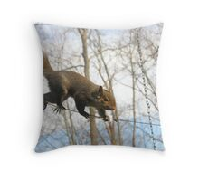 Tightrope Walker Throw Pillow