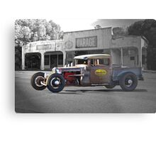 Rat Rod 'Rat's Nest' Garage Metal Print