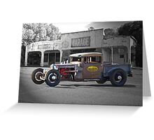 Rat Rod 'Rat's Nest' Garage Greeting Card
